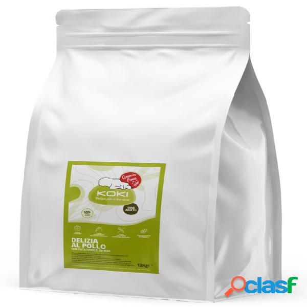 Koki grain free adulto kg 12 delizia al pollo con patate dolci ed erbe
