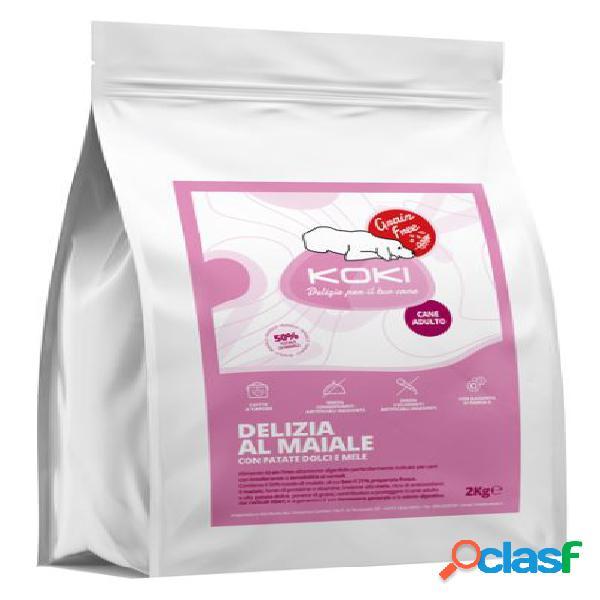 Koki grain free adulto kg 2 delizia al maiale con patate dolci e miele