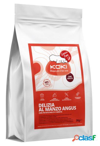 Koki grain free adulto kg 2 delizia al manzo con patate dolci e carote