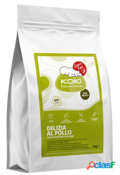 Koki grain free adulto kg 2 delizia al pollo con patate dolci ed erbe
