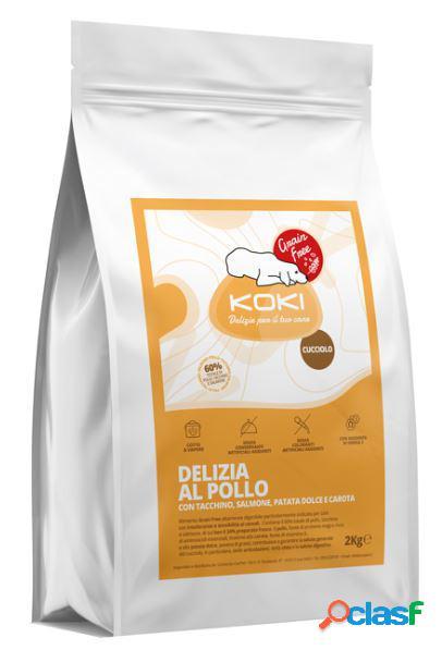 Koki grain free puppy kg 2 delizia al pollo con tacchino, salmone,...