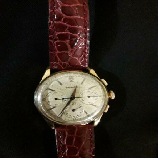 Orologio zenith tricompax oro anni 50 60