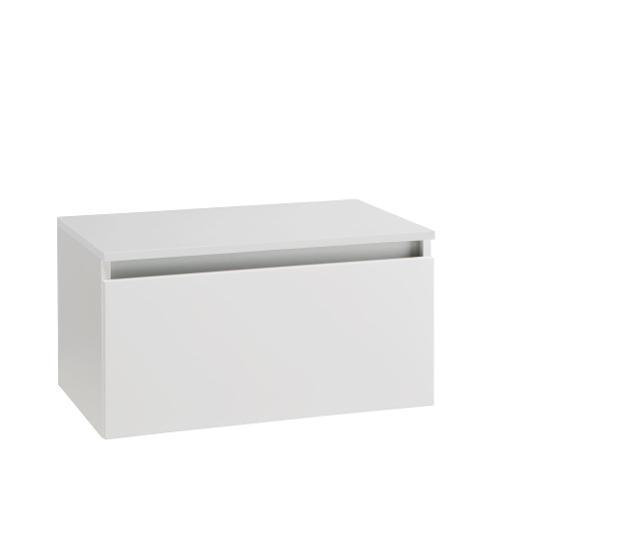 Mobile bagno sospeso 70 cm con top in legno tft ibiza bianco