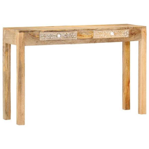 Vidaxl tavolo consolle 120x30x75 cm in legno massello di