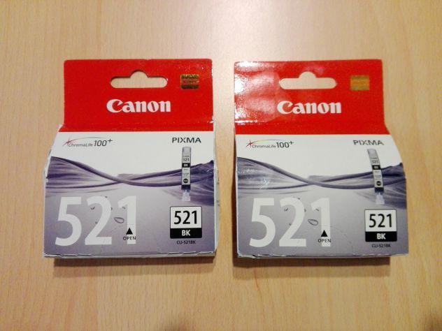 2 cartucce canon cli-521bk originali nuove