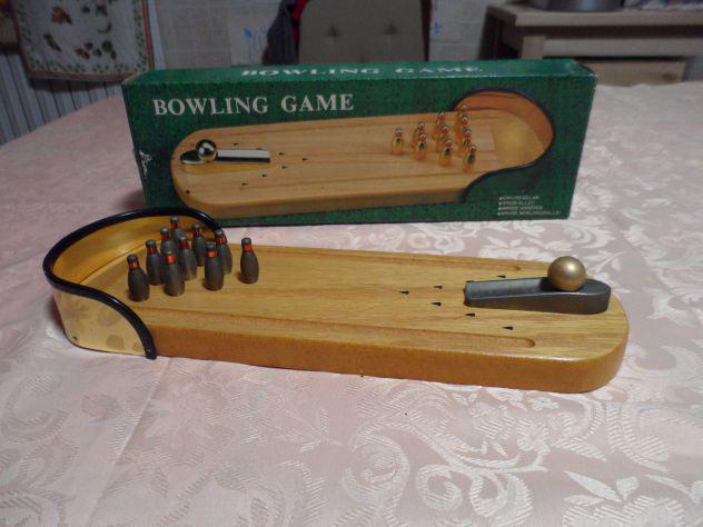 Bowling e freccette, giochi in legno