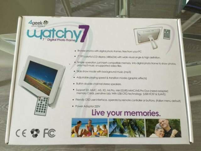 Cornice digitale 4geek watchy 7 con telecomando