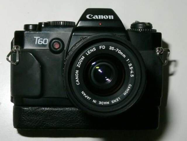 Macchina fotografica analogica canon t60