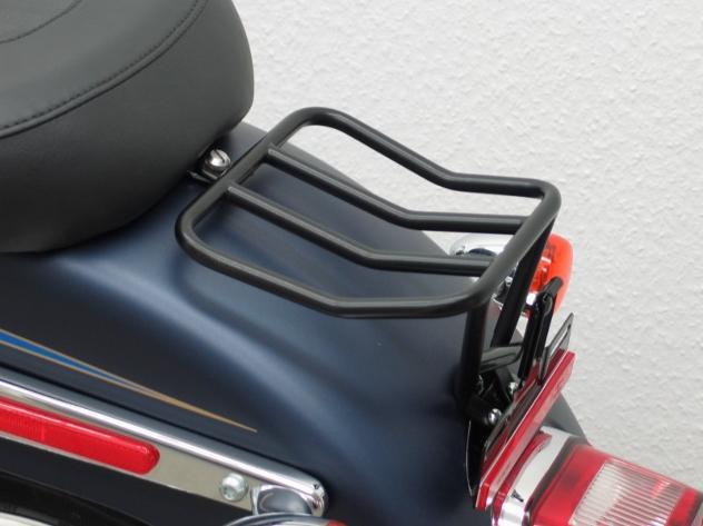 Portapacchi Posteriore Nero per Harley Davidson Softail dal