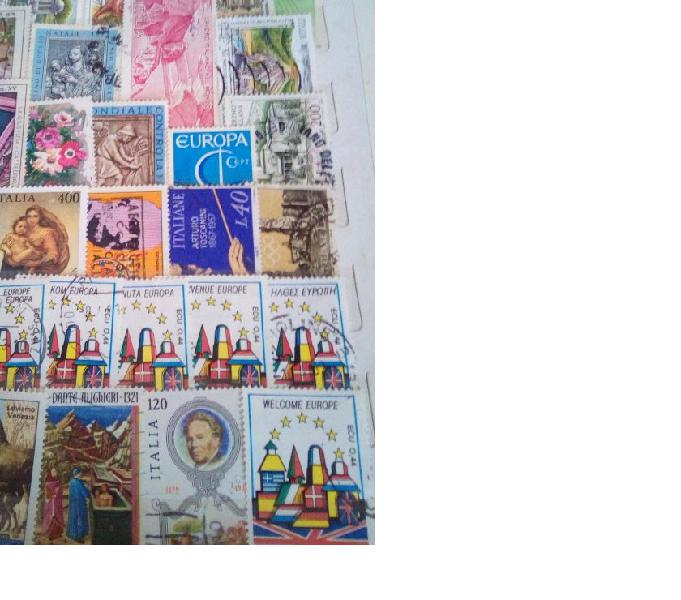 Lotto francobolli anni 80-90