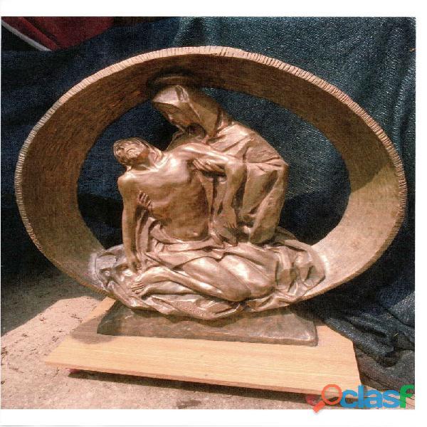 scultura statua di bronzo cm 98 x 92