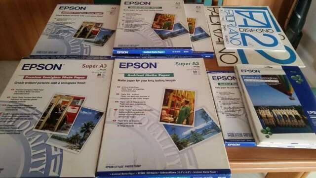 Carta fotografica epson semilucida e opaca formati a4 a3 e