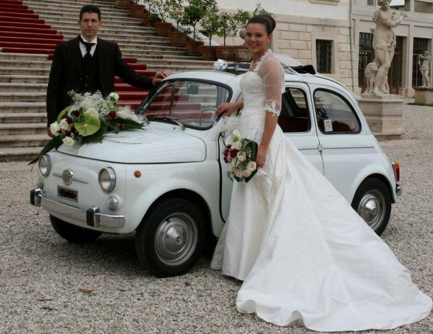 Noleggio affitto Auto d'epoca matrimoni sposi Verona fiat