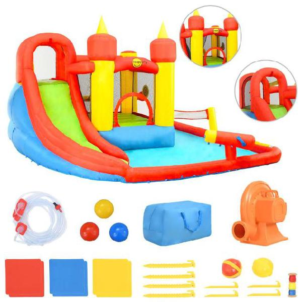 Happy hop gonfiabile bambini scivolo e piscina 410x385x220