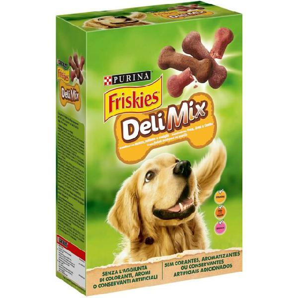 Purina friskies delimix biscotti per cani adulti 500g manzo