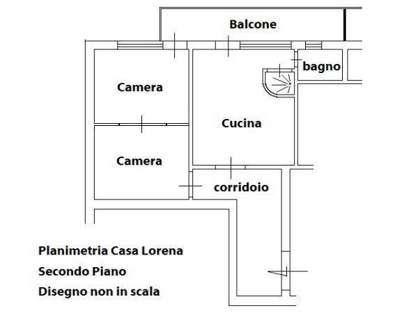 Casa Lorena è un appartamento NON arredato di circa 55 mq +