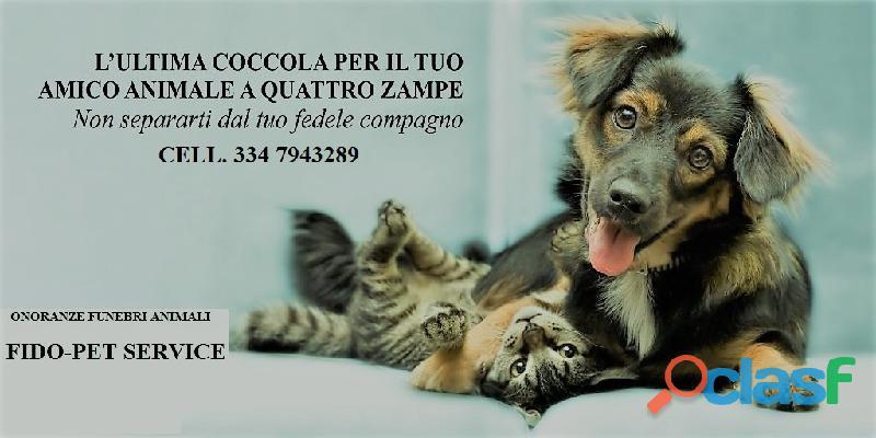 Cremzione animali fido pet service