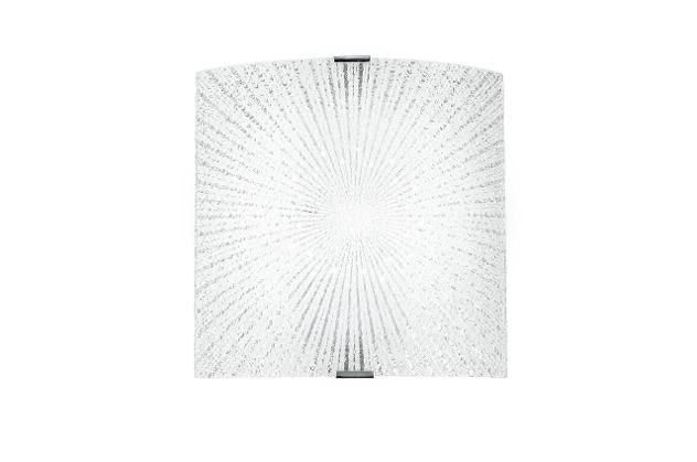 Applique vetro diamantato decoro raggi rettamgolare led 12