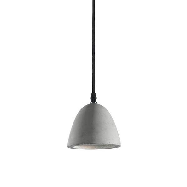 Lampada a sospensione 60w e27 ideal lux cemento