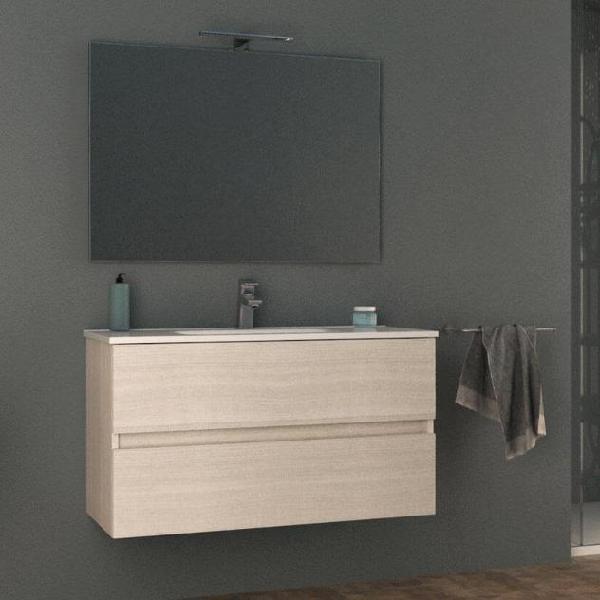 Mobile bagno sospeso 100 cm lavabo e specchio tavassi giove