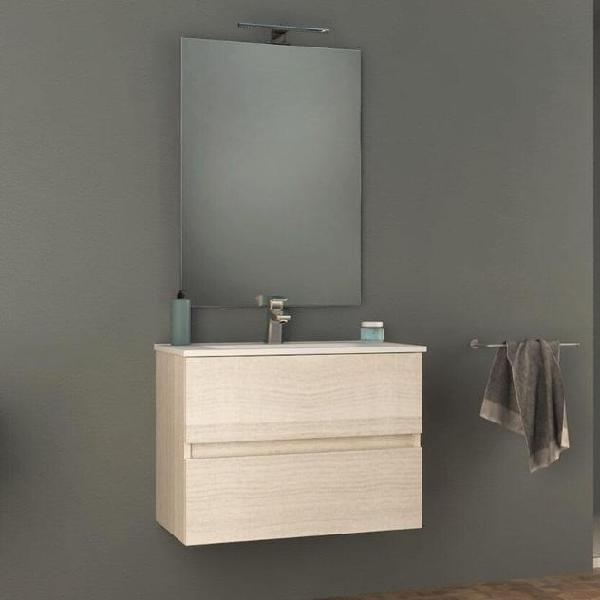 Mobile bagno sospeso 74 cm lavabo e specchio tavassi giove