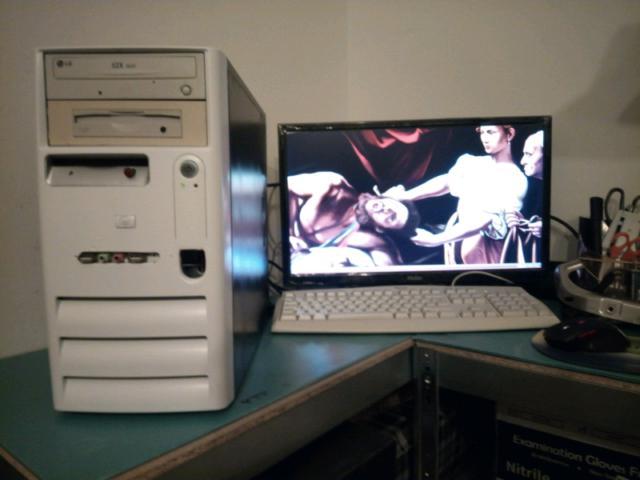 Pc desktop completo hp windows xp sp3 2gb ram