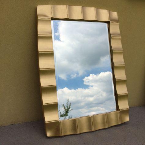 Specchio cornice dorata e vetro molato