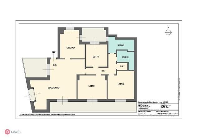 Appartamento di 152mq in Piazza Unità d'Italia 3 a