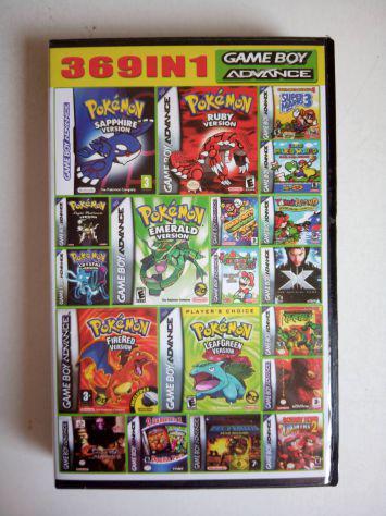 Gameboy advance cartridge 369 games in 1, multi games super