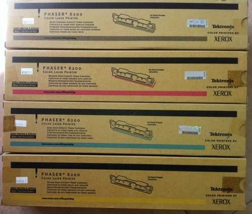 Kit toner xerox phaser 6200, nero, ciano,giallo, magenta