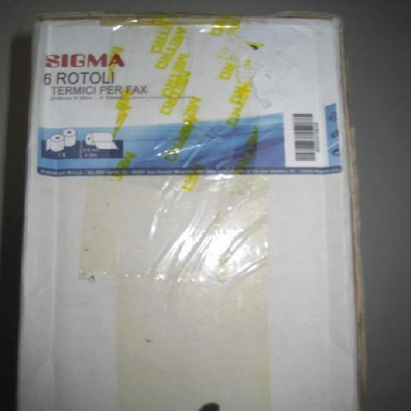 Rotoli carta termica per fax sigma nuovi imballati