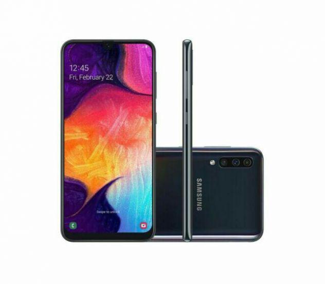 Smartphone samsung galaxy a50 + pellicola vetro +