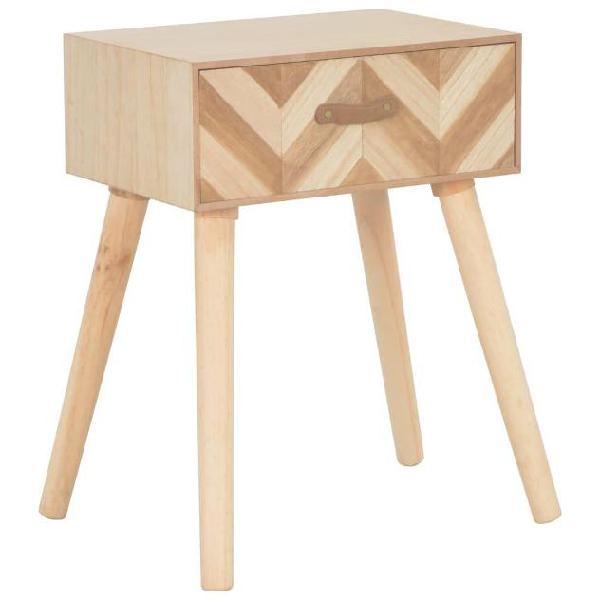 Vidaxl comodino con cassetto 44x30x58 cm in legno massello