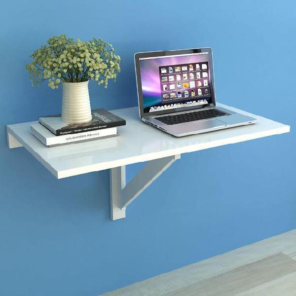 Vidaxl tavolo pieghevole da parete bianco 100x60 cm