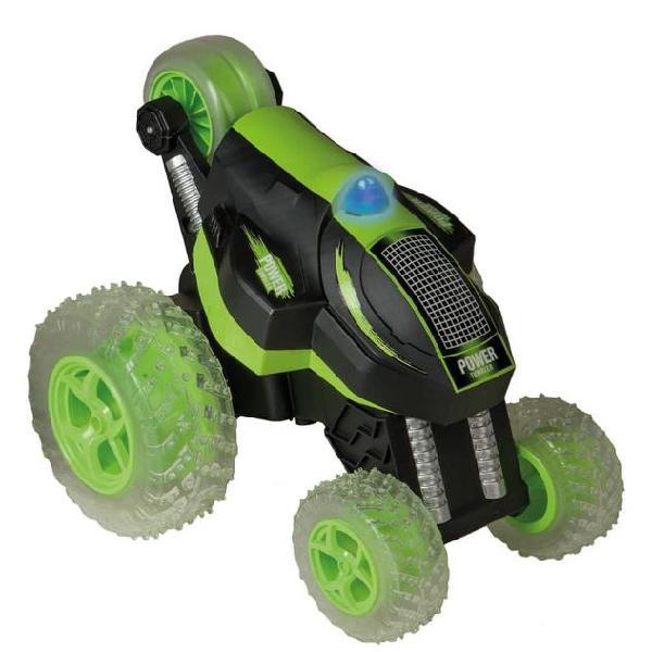 Happy people auto acrobatica giocattolo power tumbler verde
