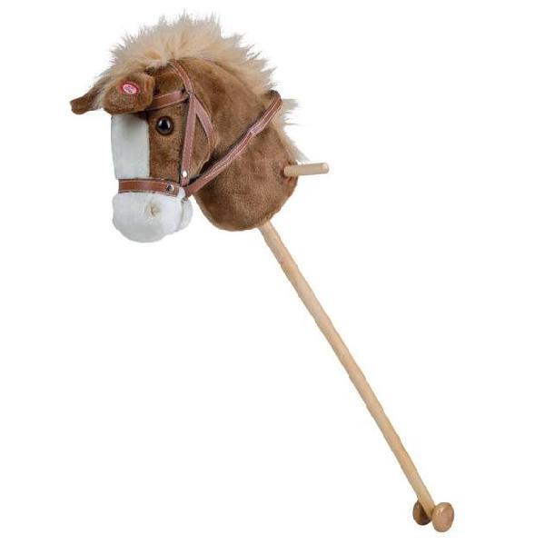 Happy people testa di cavallo con bastone cavalcabile e