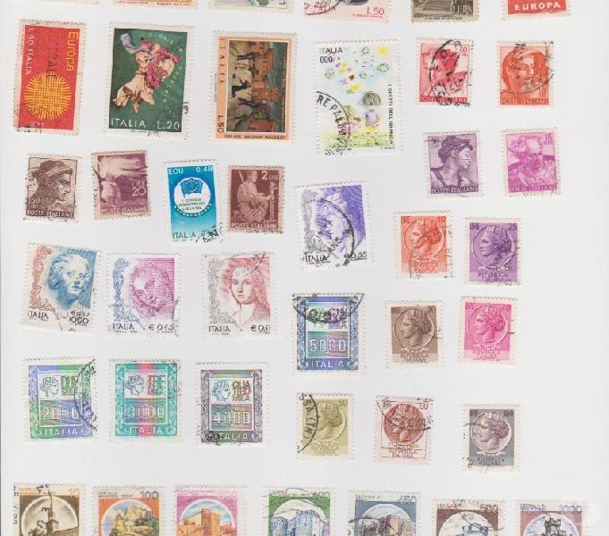 Lotto francobolli repubblica 8