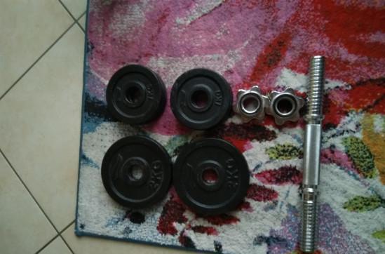 Manubri con diski di ferro