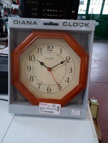 Orologio parete legno diana
