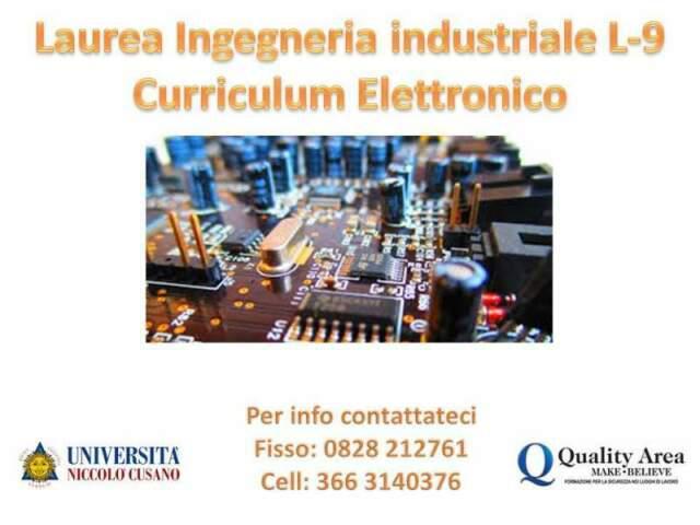 Unicusano corso di laurea in ingegneria industriale