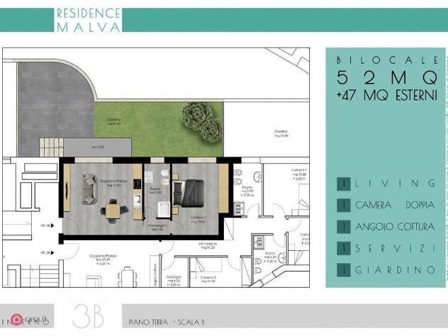 Appartamento di 57mq in via michele amari 20 a roma