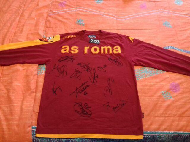 As roma maglia autografata dalla squadra