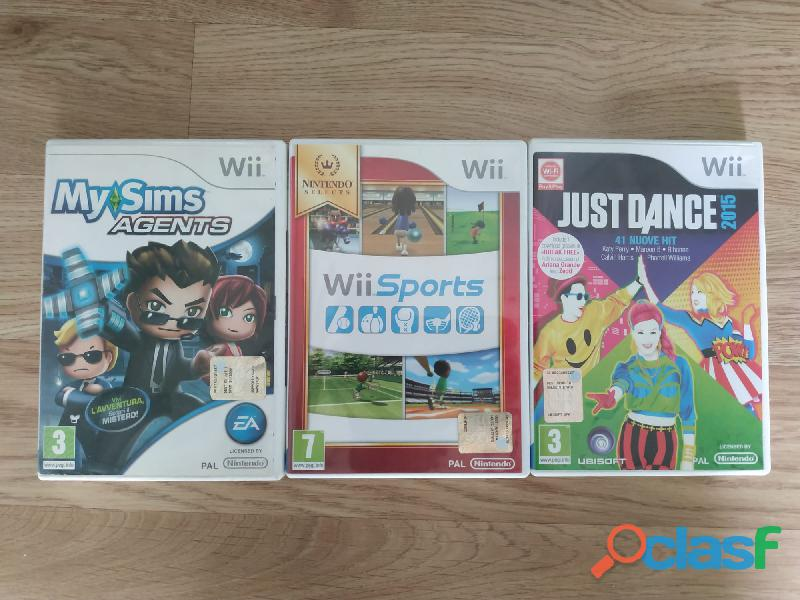 Nintendo wii +1 controller+1 nunchuk+3 giochi