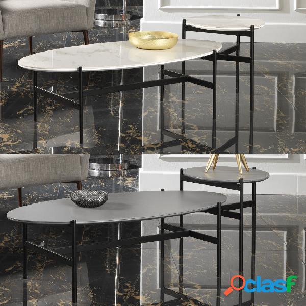 Lo Scrigno Arredamenti Tavolino quadrato da salotto Classico con vetro W64//N