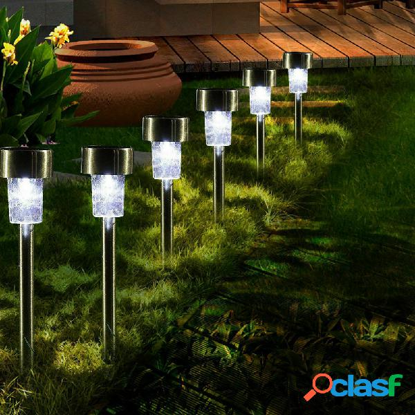 GIARDINO luce da esterno in acciaio inox color argento Percorso Lampada RETE alimentata Lightin