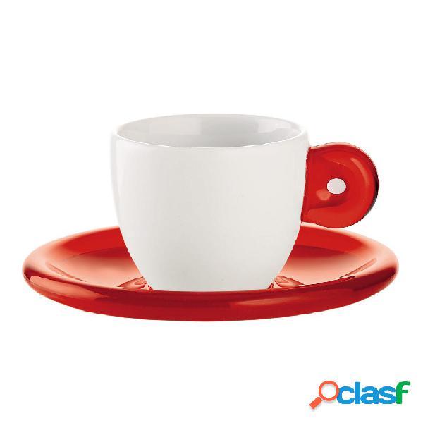 Set 6 Pezzi Tazzine Tazze Caffè Vetro Trasparente Espresso Bar 6x5cm idea