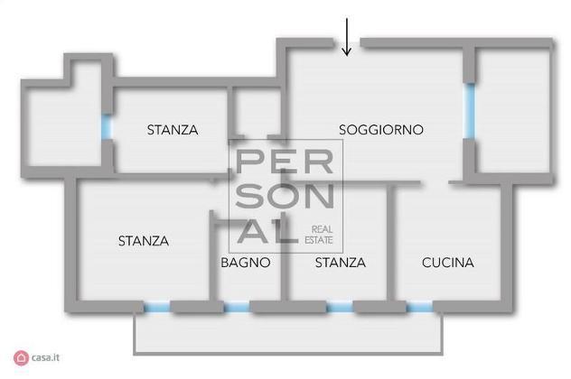 Appartamento di 96mq in Via Milano 4 a Mezzolombardo