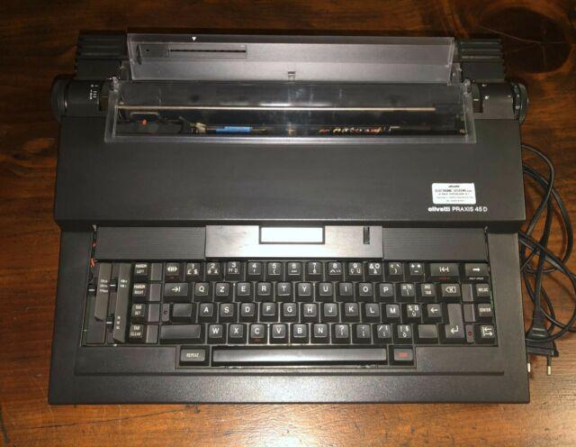Macchina da scrivere elettronica olivetti praxis 45d