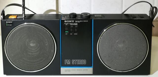 Sony srf-80w stereo speaker radio walkman am / fm