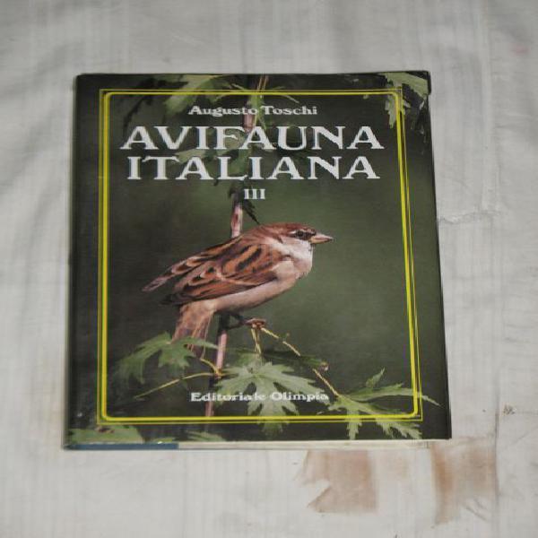"Libro ""avifauna italiana"" iii volume."